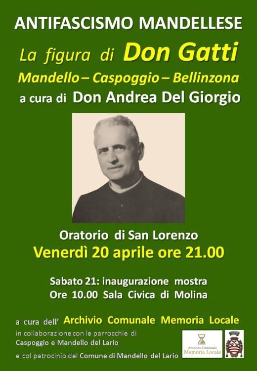 manifesto serata Don Gatti